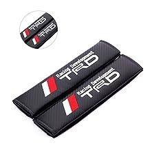 2pcs //TRD Racing Development Carbon Fiber Car Styling Accessories Seat Belt Shoulders Pad Truck Cover TOYOTA COROLLA RAV4 Camry CROWN PRIUS REIZ VIOS YARIS EZ