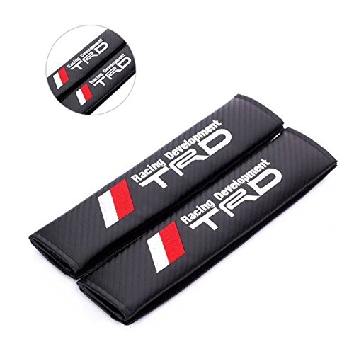 2pcs TRD Racing Development Carbon Fiber Car Styling Accessories Seat Belt Shoulders Pad Truck Cover TOYOTA COROLLA RAV4 Camry CROWN PRIUS REIZ VIOS YARIS EZ