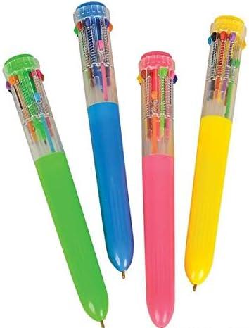 Pink Emoji Novelty Multifuntion  Pen 10 Colour