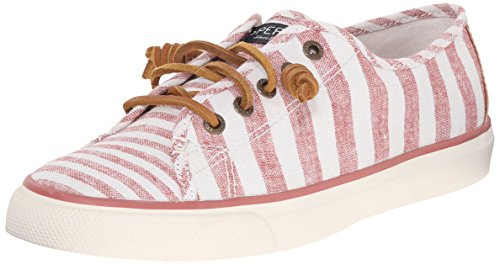 Sperry Top-Sider Women's Seacoast MT Stripe BRK Fashion Sneaker, Brick, 9.5 M US