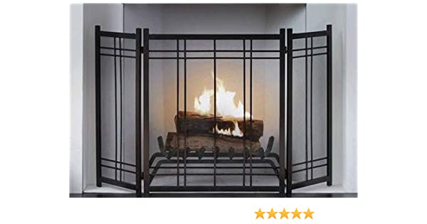 Pleasing Large Fireplace Screen Gate Black Vintage Iron Beauty In Any Season Maximum Coverage And Protection By Hometeks Beutiful Home Inspiration Ommitmahrainfo