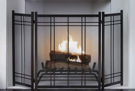 Amazing Large Fireplace Screen Gate Black Vintage Iron Beauty In Any Season Maximum Coverage And Protection By Hometeks Beutiful Home Inspiration Ommitmahrainfo