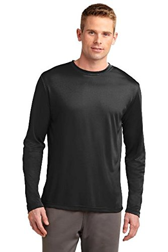 Sport-Tek Men's Long Sleeve PosiCharge Competitor Tee L Black from Sport-Tek