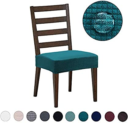 Dining Room Chair Covers 6 Pack Water Repellent Easy To Install High Stretch Dining Room Chair Seat Slipcover Protector Shield For Dog Cat