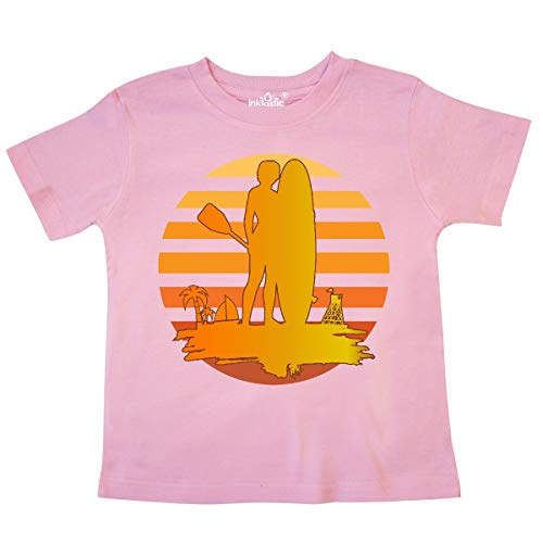 inktastic - Stand Up Paddle Boarding Sunset Toddler T-Shirt 5/6 Pink 33c38