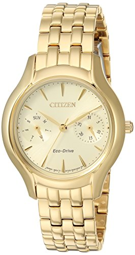 Citizen Women's 'Silhouette' Quartz Stainless Steel Casual Watch, Color:Gold-Toned (Model: FD4012-51P)