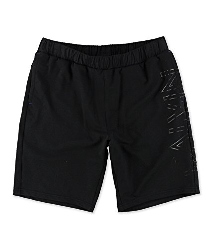 Calvin Klein Mens Solid Athletic Workout Shorts Black M