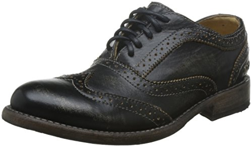 Oxford Black Stu Handwash Leather Women's Bed Lita Shoe 7FtxqTPw