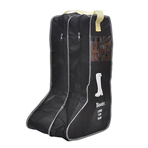 Portable Boot Bag,Boots Storage,Shoes bag(Black) (Large)
