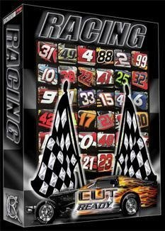 RACE CAR NUMBER Vector Clipart Vinyl Cutter Plotter Clip Art Images Sign  Design Artwork-EPS Vector Art Software