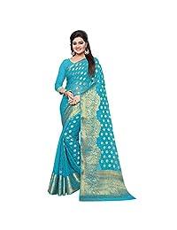 arars chiffon silk saree kanjivaram kanchipuram pattu style, wedding collection colour blue (278)