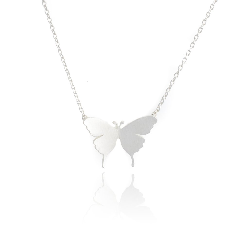 she Began to Fly. My Very Best Butterfly Necklace/_Just When The Caterpillar Thought her Life was Over