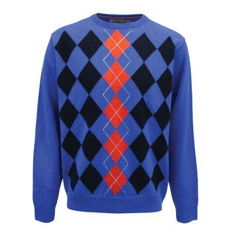 Proquip Aquastorm Men's en laine d'agneau à col rond en tricot Pull déperlant Wear Persian Blue (véronique XL)