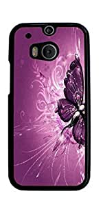 Butterfly Design Hard Case for HTC ONE M8 ( Sugar Skull )