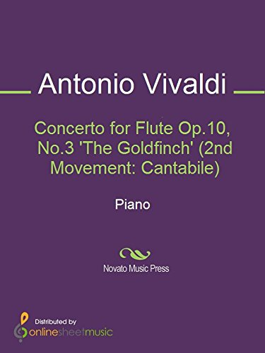 Concerto for Flute Op.10, No.3 'The Goldfinch' (2nd Movement: - Cantabile Flute