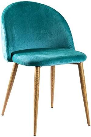 Regalos Miguel - Sillas Comedor - Silla Vint Terciopelo - Verde Azulado - Envío Desde España