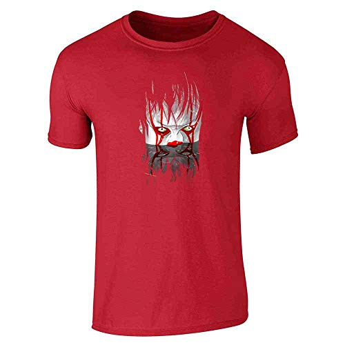 (You'll Float Too Horror Clown Halloween Scary Red M Short Sleeve)