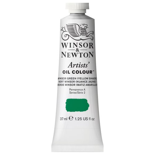 Winsor & Newton Artists' Oil Colour Paint, 37ml Tube, Winsor Green Yellow Shade (Yellow Shade Green Winsor)