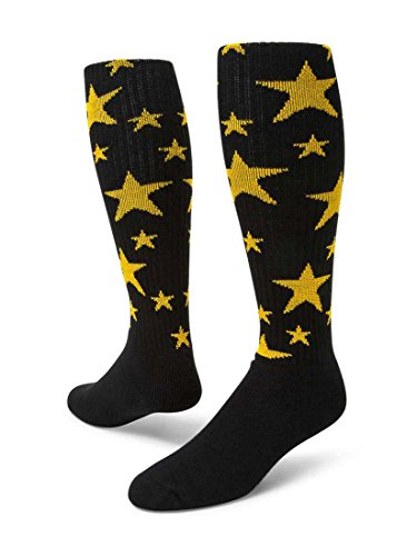 Red Lion Stars Athletic Socks ( Black / Gold - Medium )