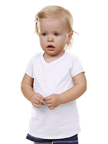 Kavio! Unisex Infants V Neck Short Sleeve White 18M