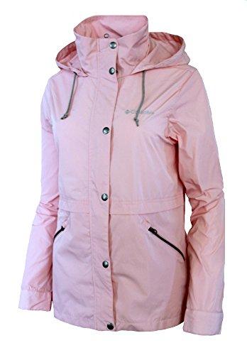 Ladies Nylon Jacket (Columbia Women's Base Camp Short Soft Shell Spring / Fall Hooded Jacket Pink (XL))