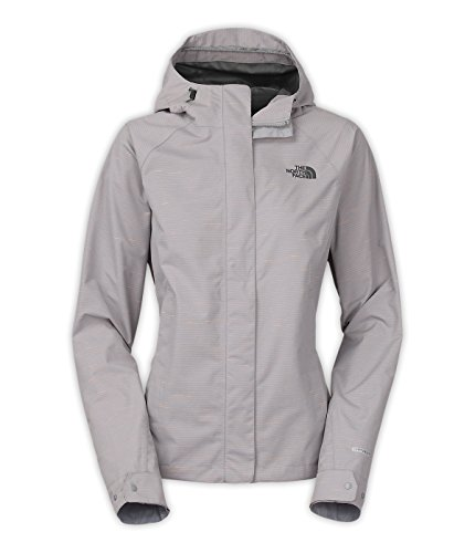The North Face Novilty Venture Jacket Womens (Small, Mid Grey Stripe) (Face Venture North Womens Apparel The Jacket)