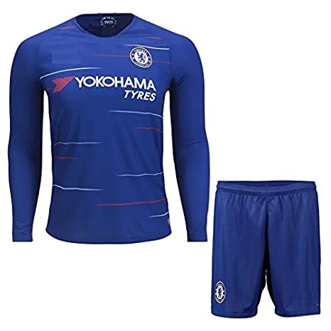 Buy Generic Chelsea Home Long-Sleeve Jersey with Shorts 2018-2019 ... 9e6a63fa7