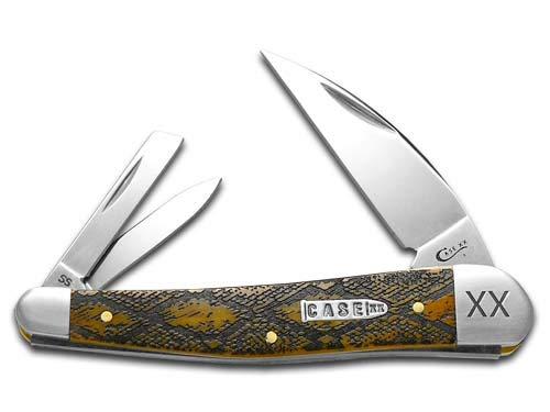CASE XX Diamondback Antique Bone Seahorse Whittler 1/500 Stainless Pocket Knife Knives