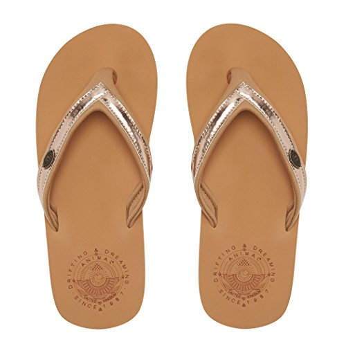 Animal Swish Slim Aop, Women's Flip Flops Toffee Apple Brown