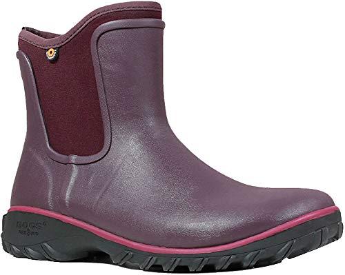 Bogs Women's SAUVIE Slip ON Boot Chukka, Wine, 10 Medium US