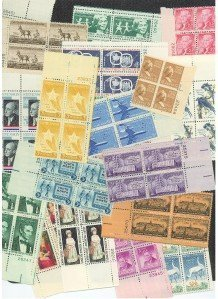 Old Stamp Mint (40 Old US Plate Blocks! All Mint! Only $10.95!)