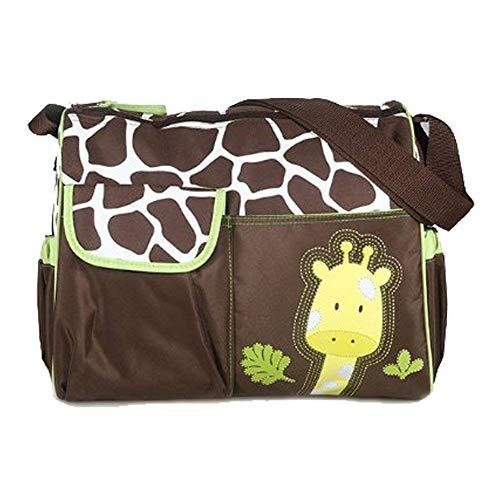 - YaptheS Multi-Function Mummy Handbag Large Capacity Baby Diaper Change Bag Waterproof Bag Giraffe Pattern Green Edge