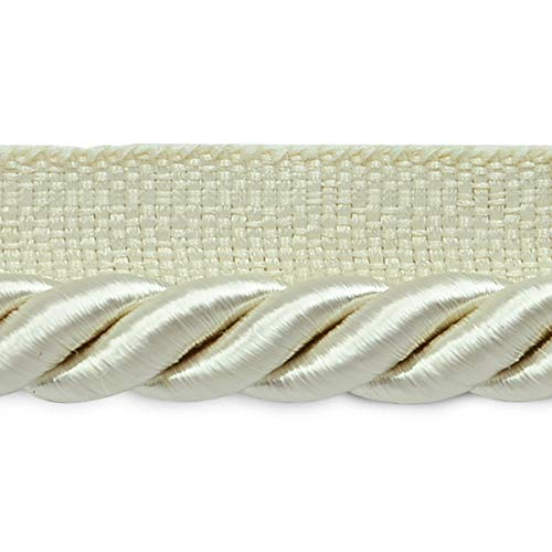 Lip Twisted 3/8 Trim Cord (Hilda 3/8in Twisted Lip Cord Trim Ivory (Precut 20 Yard))