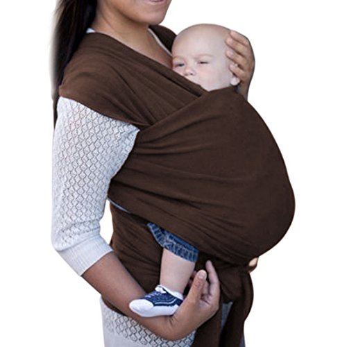 Adjustable Baby Wrap Sling Carrier Infant Toddlers Front Packs Shower Gift Indoor Outdoor Travel Cotton Comfort Safety Newborn Child Lite-on-Shoulder 0-3yrs with Carry Case