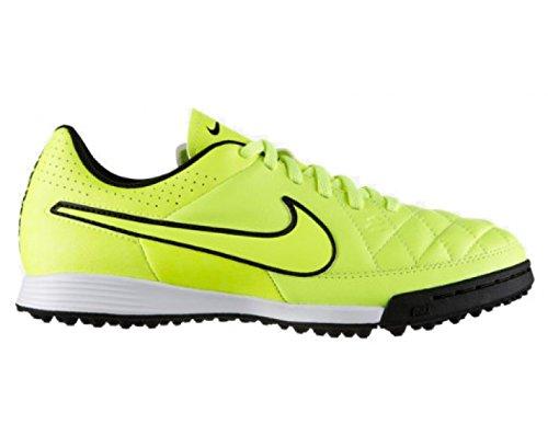 Nike JR Tiempo Genio Leather TF Kinder Fussballschuhe volt-volt-hyper punch-black - 38