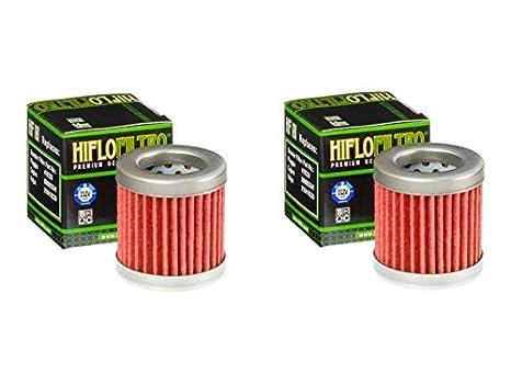 Cantidad 2 - HiFlo filtro de aceite de moto hf181: Amazon.es ...