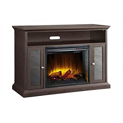 """Pleasant Hearth Riley Media Electric Fireplace for TVs up to 48"""", Espresso"""