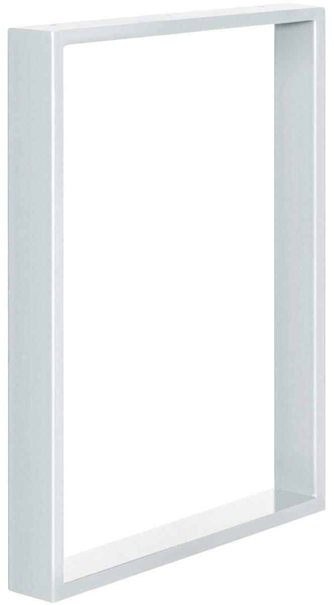 Acero pulido y lacado 1 Pieza forma de marco 30x43 cm HOLZBRINK Patas de Mesa perfiles de acero 80x20 mm HLT-01-C-AA-0000
