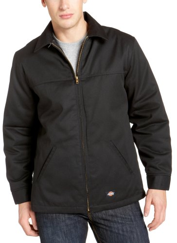 Dickies Men's Hip Length Twill Jacket, Black, Large