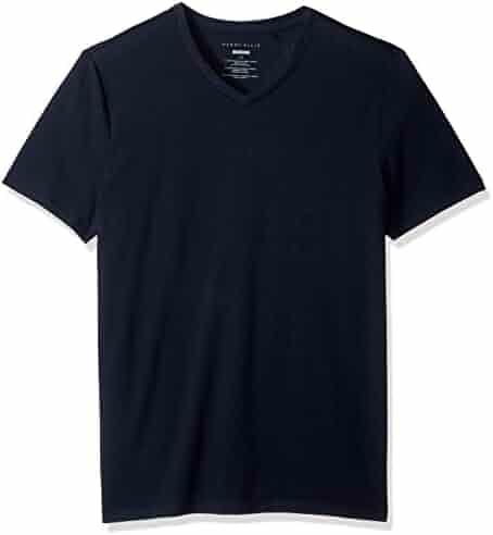 Perry Ellis Men's Standard Stretch Pima V-Neck Tee Shirt