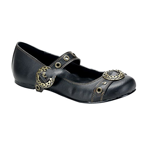 Demonia Daisy-09 - gothique punk ballerina chaussures femmes 36-43