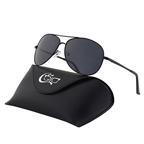 CGID GA03 Premium Al-Mg Alloy Full Mirrored Aviator Polarized Sunglasses UV400,Spring Hinges Sun Glasses for Men - Better Mirrored Are Sunglasses