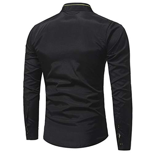 Sweat Homme Manches 2 Ujunaor Tailleur Longues Logo À shirt Capuche Boutons Avec Col Noir dq1APaqwz6