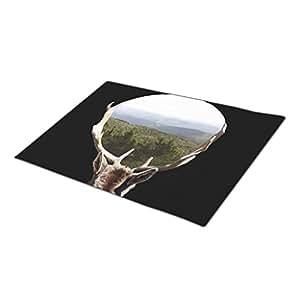 chirshion Monogrammed Door Mat Deer Door Mate Hills
