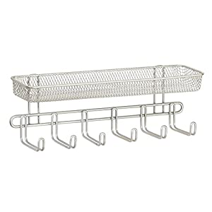 InterDesign Classico Wall Mount Fashion Jewelry Organizer – Jewelry Storage Holder for Rings, Earrings, Bracelets and Necklaces, Satin