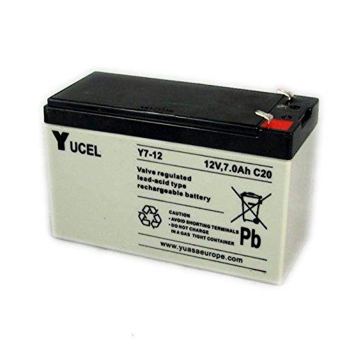 Yucel 7 amp 12volt Alarm Panel Battery Yuasa