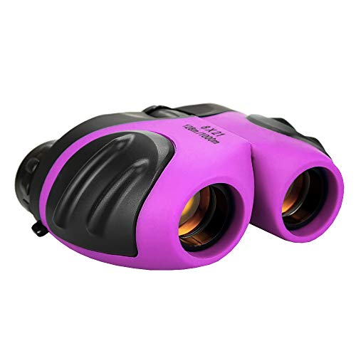 TOP Gift Gifts Girl Age 3-12, Compact Binocular for Kids Toys for 3-12 Year Old Girls Boys for 3-12 Year Old Boys Stocking Fillers Purple TGUS006