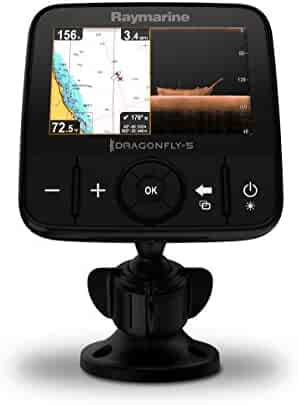 Raymarine Dragonfly Pro CHIRP Sonar and GPS with Transducer and Navionics