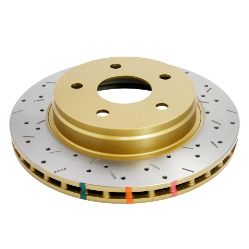 DBA DBA42442XS 4000 XS Cross-Drilled and Slotted Front Vented Disc Brake Rotor