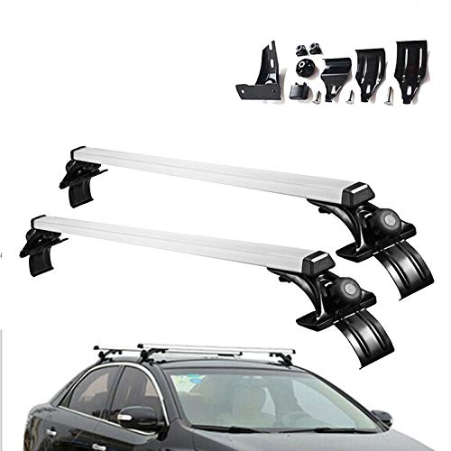 ZhanGe 47'' Aluminum Universal Roof Rack Cross Bar Luggage Cargo Carrier Rail Rack Crossbars Roof Top Cargo Rack for Vehicle Without Roof Side Rail Fit 2006-2017 Volkswagen Jetta Pack of 2